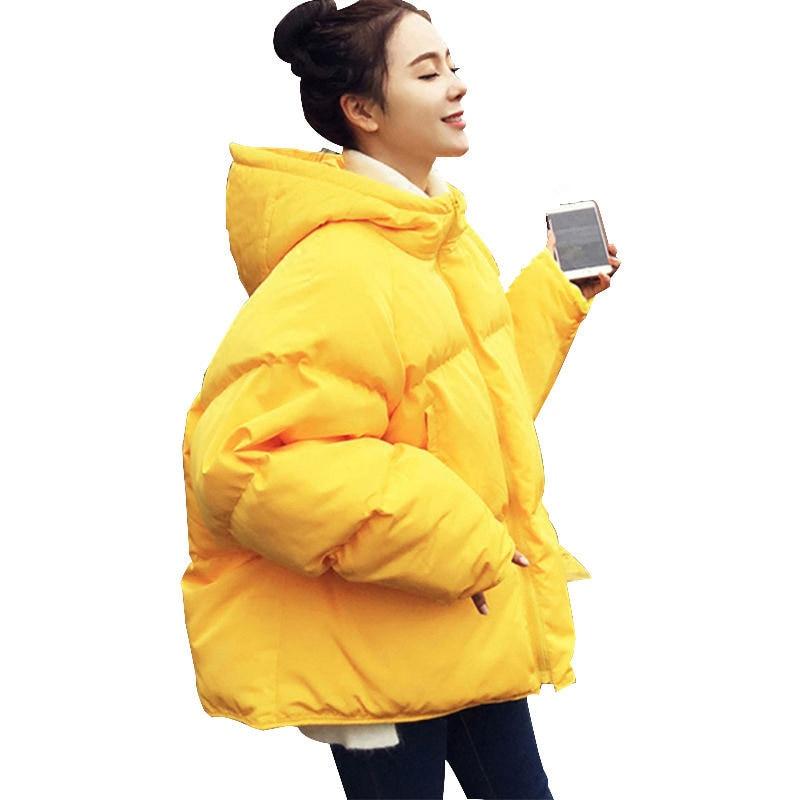 D'hiver Survêtement Vers Le Femmes Veste Épaissir Coton Parka Manteau Style Bas Yellow Q903 Lâche Courte Chaud Bf pink FqdC7wpxq