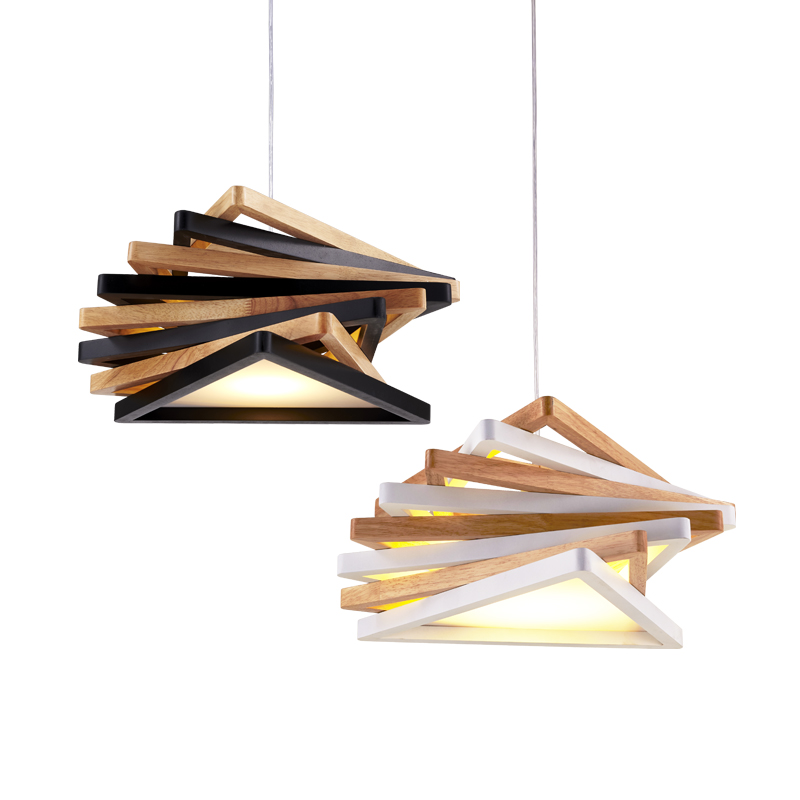 Nordic restaurant chandelier single head Cafe staircase personality bar Korean original wood creative lighting classical chinese food industry restaurant bar cafe original wood single head pendant lights rmy 0247