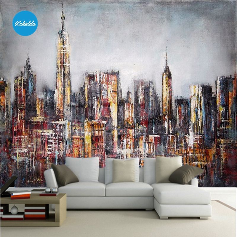 XCHELDA  Custom 3D Wallpaper Design Fashion City Photo Kitchen Bedroom Living Room Wall Murals Papel De Parede Para Quarto мужская классическая рубашка fashion city 2015new