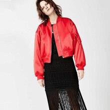 Autumn And Winter women's fashion trend fashion Short pilots all-match V-neck print baseball outerwear free shipping