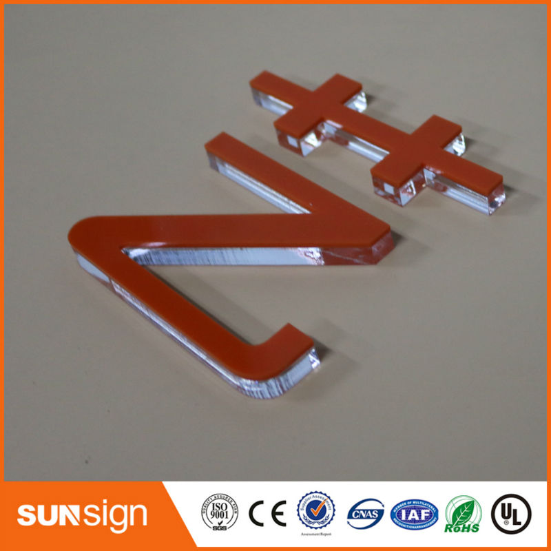 Sunsign Clear Acrylic Letter Signs For Company Indoor Decorative Signage