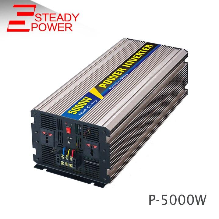 Hot sell 5kw car power inverter dc 12v 24v ac 220v circuit 5000w pure sine wave inverter for solar power system