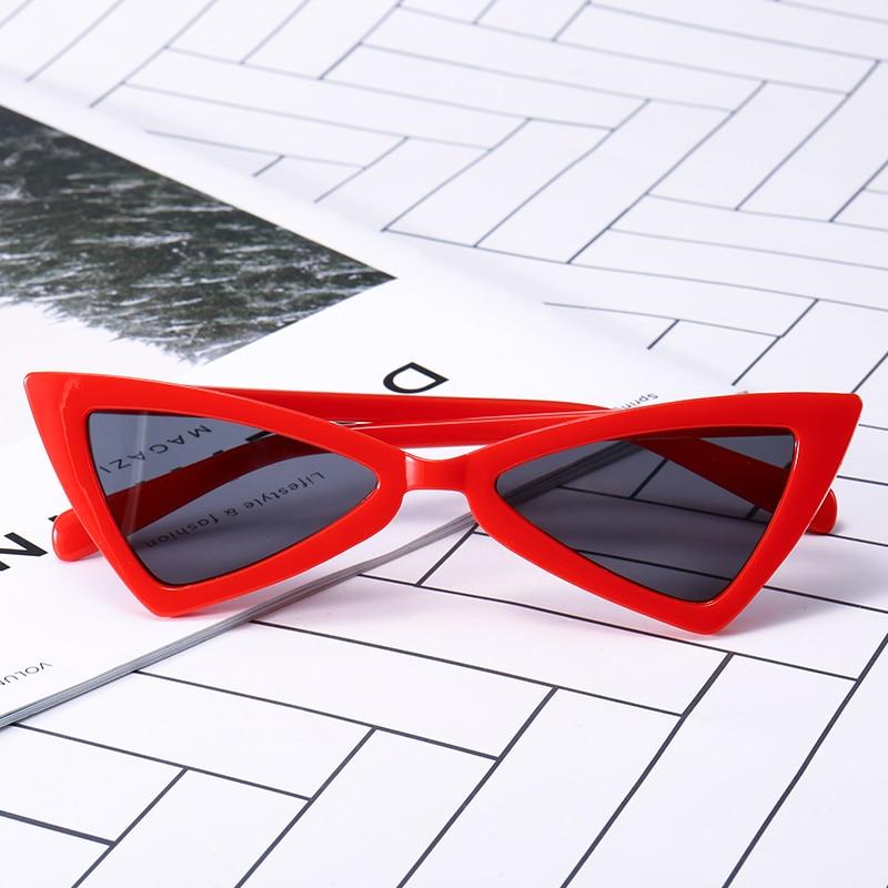 Nouveau mode rouge petites lunettes de soleil femmes 2018 filles parti lunettes  marque designer gafas de sol de los hombres décision lunettes 11230 65129aca62d6