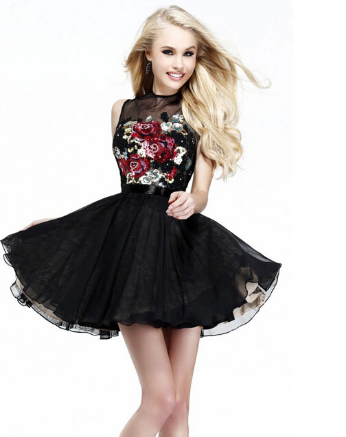 Black Evening Dresses Juniors Girls