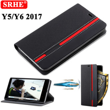 Фотография Huawei Y5 2017 Case Flip Luxury Fashion PU Protective Leather Back Fundas Coque Cover For Huawei Y5 2017 With Phone Stand