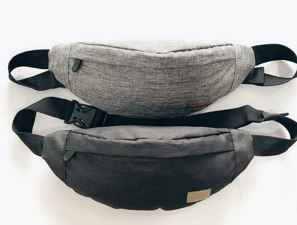 Impermeabile Uomini Casual Femminile Funzionale del pacchetto di Fanny Marsupio Denaro Cinghia del telefono del sacchetto della cinghia con 3 sacchetti della chiusura lampo grande capacità