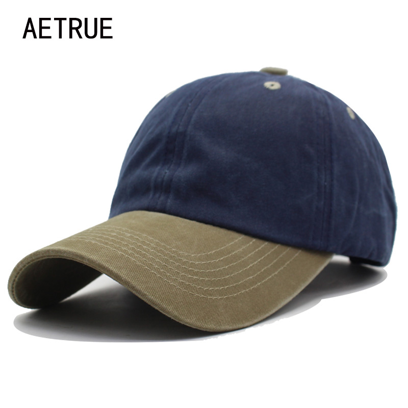 AETRUE Baseball Cap Men Snapback Caps Women Casquette Bone Hats For Men Fashion Vintage Plain Flat Blank Cotton Baseball Hat Cap fashion rivets cotton polyester fiber men s flat top hat cap army green