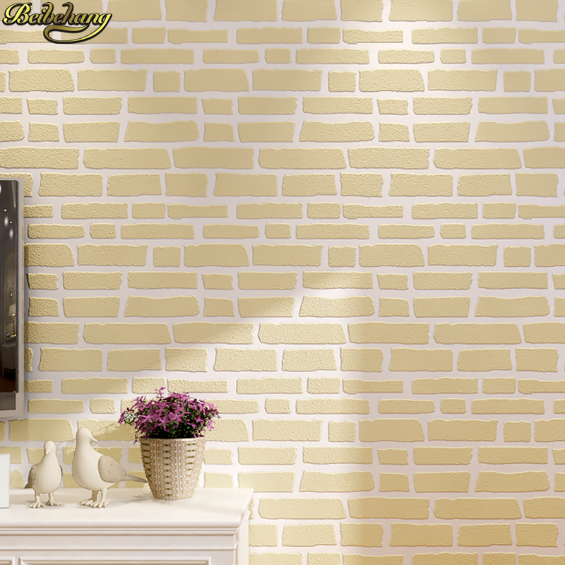 beibehang wallpaper 3D wallpapers Deep Embossed Brick Wall paper roll for home decoration wallcovering papel de parede listrado beibehang wallpaper for walls 3d deep embossed pvc mural wall paper papel de parede tapete bedroom home decoration contact paper