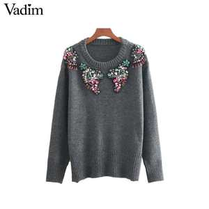 Vadim women knitted sweaters pullovers female tops