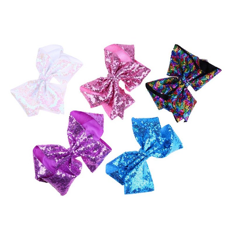 1PC Hair Bows Girls Boutique Sequin Ribbon Bow Hairpins Hair Clips For girls women Handmade Hair Accessories