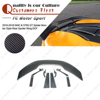 Car Accessories Dry Carbon Fiber NVT Style Trunk GT Wing 7pcs Fit For 2016 2018 540C & 570S GT Spider Rear Spoiler Wing