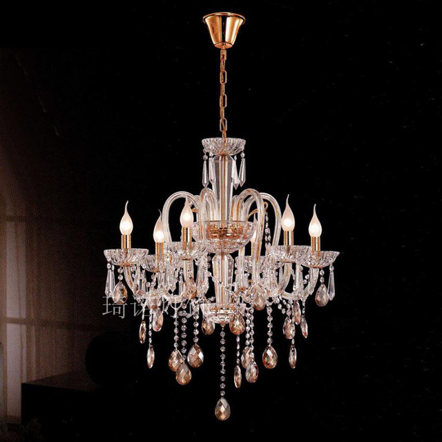 Living Room Lights Project Light Crystal Lamp Candle Glass Tube Pendant Bedroom Led Lighting