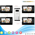 chuangkesafe Hot sale 7inch TFT LCD screen intercom system video door phone for villa 1V4
