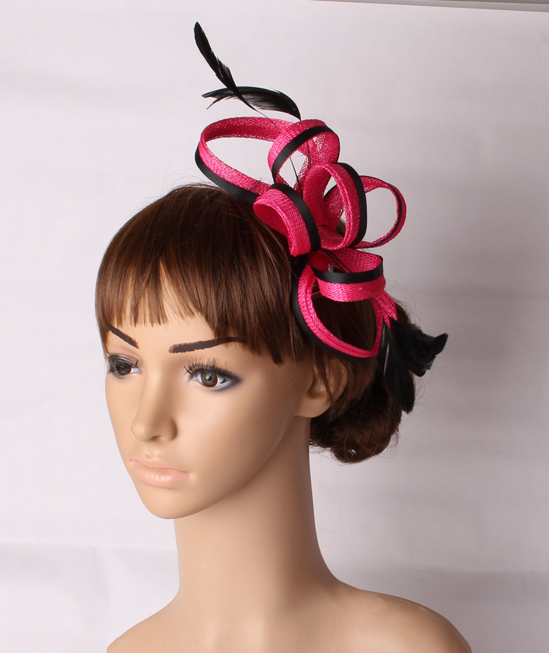 4070da4d272 Fascinating multiple colors sinamay ladies girls hair fascinators headwear  wedding hair accessories occasion headpiece TMYQ123