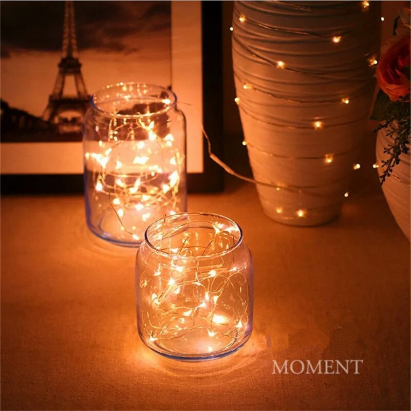 1M 10LEDs Battery Power Operated Multicolor Copper Wire String Light Xmas Party Wedding Decor Lamp Waterproof Kid Gifts PD391