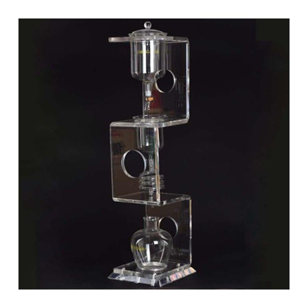 YUEWO 4C капельница для приготовления кофе со льдом/капельная Кофеварка для воды многоразовый стеклянный фильтр инструменты кофейник с воронк