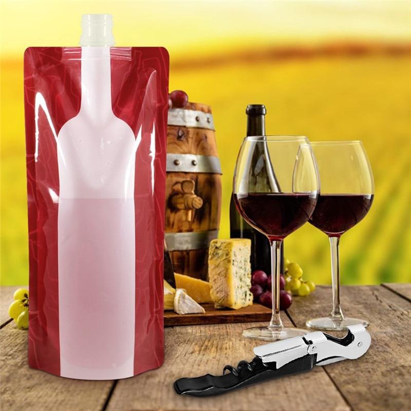 1 St Opvouwbare Herbruikbare Draagbare Fles Wijn Zak Wijn Zak Onbreekbaar Heupfles Reizen Gear Accessoires Bag Party Bar Accessoires