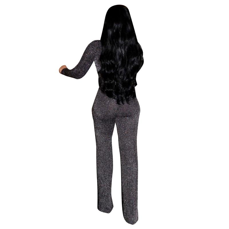 652c551fdb1e Fashion Plus Size Rompers Women Jumpsuit Elegant Long Sleeve Bodycon ...