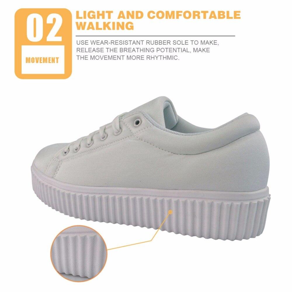 Dames 3d h1840bz Appartements Respirant Lace Plate Croissante Chaussures Instantarts h1837bz h1839bz Custombz Hauteur Fleur Rétro h1838bz Up Imprimer Casual Femmes forme wgqRnXnZ