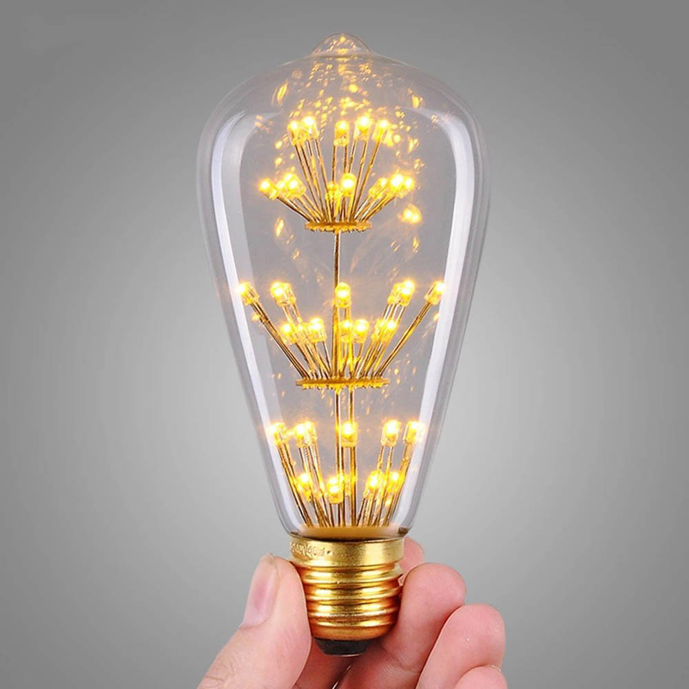 e27 pendant lamp vintage edison bulb st64 220v incandescent light bulb led 40w bulbs decorative filament - Decorative Light Bulbs