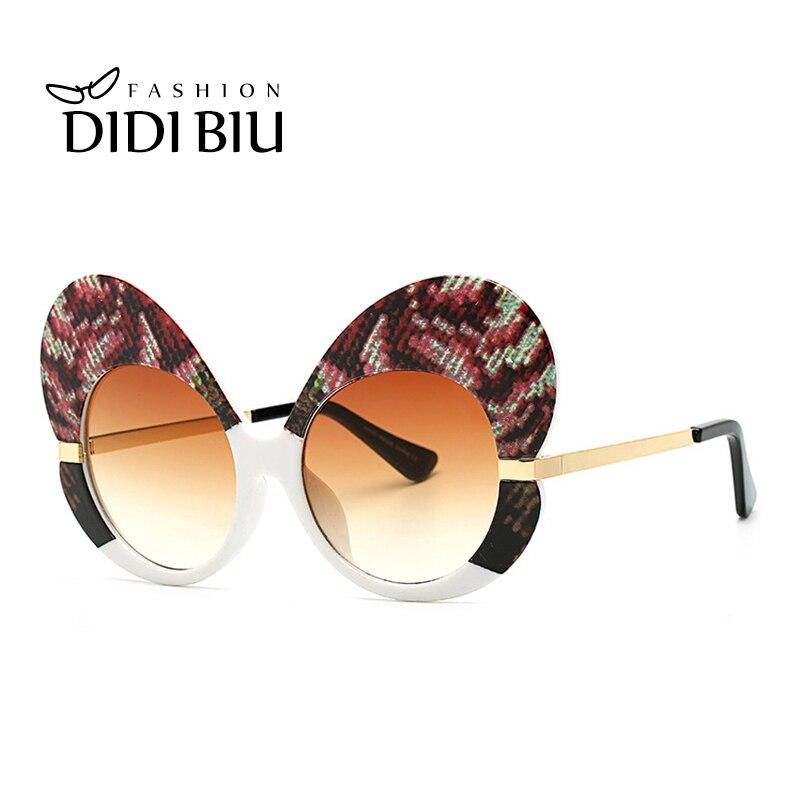 7c79a10fb9 Detail Feedback Questions about DIDI Big Butterfly Sunglasses Women Cat Eye  Pink Leopard Snake Glasses Festival Steam Punk Italy Superstar Clear Eyewear  ...