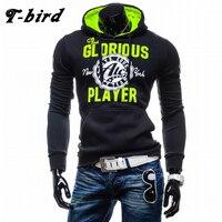 T Bird Hoodies Men Letter Printing Sweatshirts Men Hip Hop Pullover Autumn Winter Mens Sportswear Brand