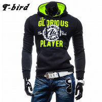 T Bird Hoodies Men Letter Printing Sweatshirts Men Hip Hop Pullover Autumn Winter Mens Sportswear Brand