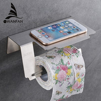 Kağıt Tutucular Paslanmaz Çelik Krom Tuvalet Kapak WC Olmadan Duvar Banyo Aksesuarları Rulo Tutucu Telefon Standı Raf WF-18063