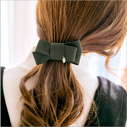 korean fashion bowknot women girls hair clip bow accessories for women banana clips barrette   headwear   hairgrip pony tail holder