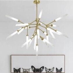 Nowoczesny Design Led lampy sufitowe żyrandole pokój dzienny sypialnia jadalnia oprawy oświetleniowe Lustre Decor oświetlenie domu G9 110  220 V w Wiszące lampki od Lampy i oświetlenie na
