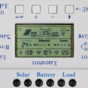 Image 2 - MPPT T40 40A ソーラー充電レギュレータ 12 V 24 V 自動 Lcd ディスプレイコントローラ負荷デュアルタイマー制御のための街路灯システム