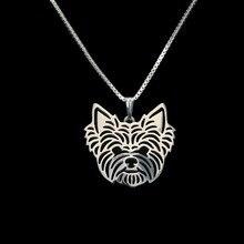 Золото и серебро 1 шт. Йоркширский терьер ожерелье 3D вырезанный Щенок Собака Любовник кулон мемориальное ожерелье s подвески Рождественский подарок