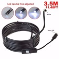 3.5M 5.5mm Android Endoscope Waterproof Borescope Inspection Camera 6 LED Cam usb camera software inspection cameras