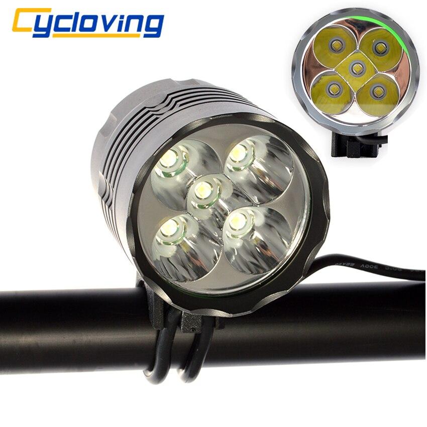 Цена за Cycloving 5t6 велосипед свет 6000 люмен светодиодный головной свет велосипедные фары водонепроницаемый алюминиевый лусес bicicleta аксессуары
