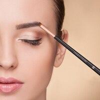 Уникальные цвета под углом кисть для бровей Gel Eyeliner кисти для макияжа Красота Blending Eye Make Up косая кисть Инструменты для бровей