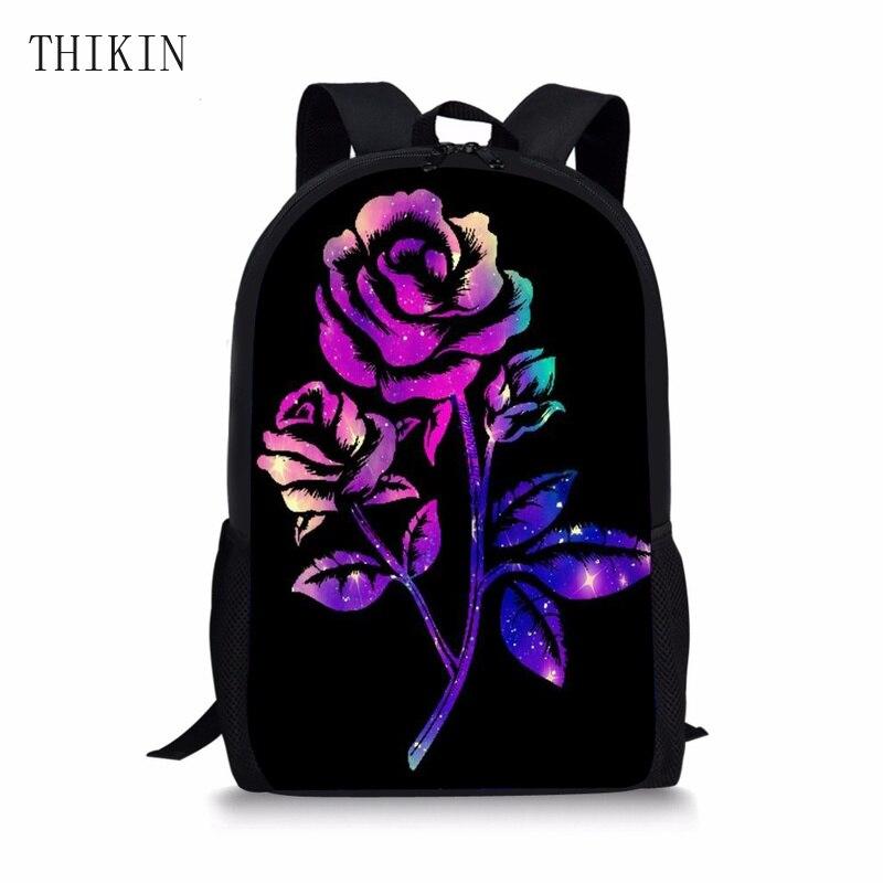 THIKIN School-Bags Rucksack Children Bag Teenager College Galaxy Kids Fashion Girls Pink