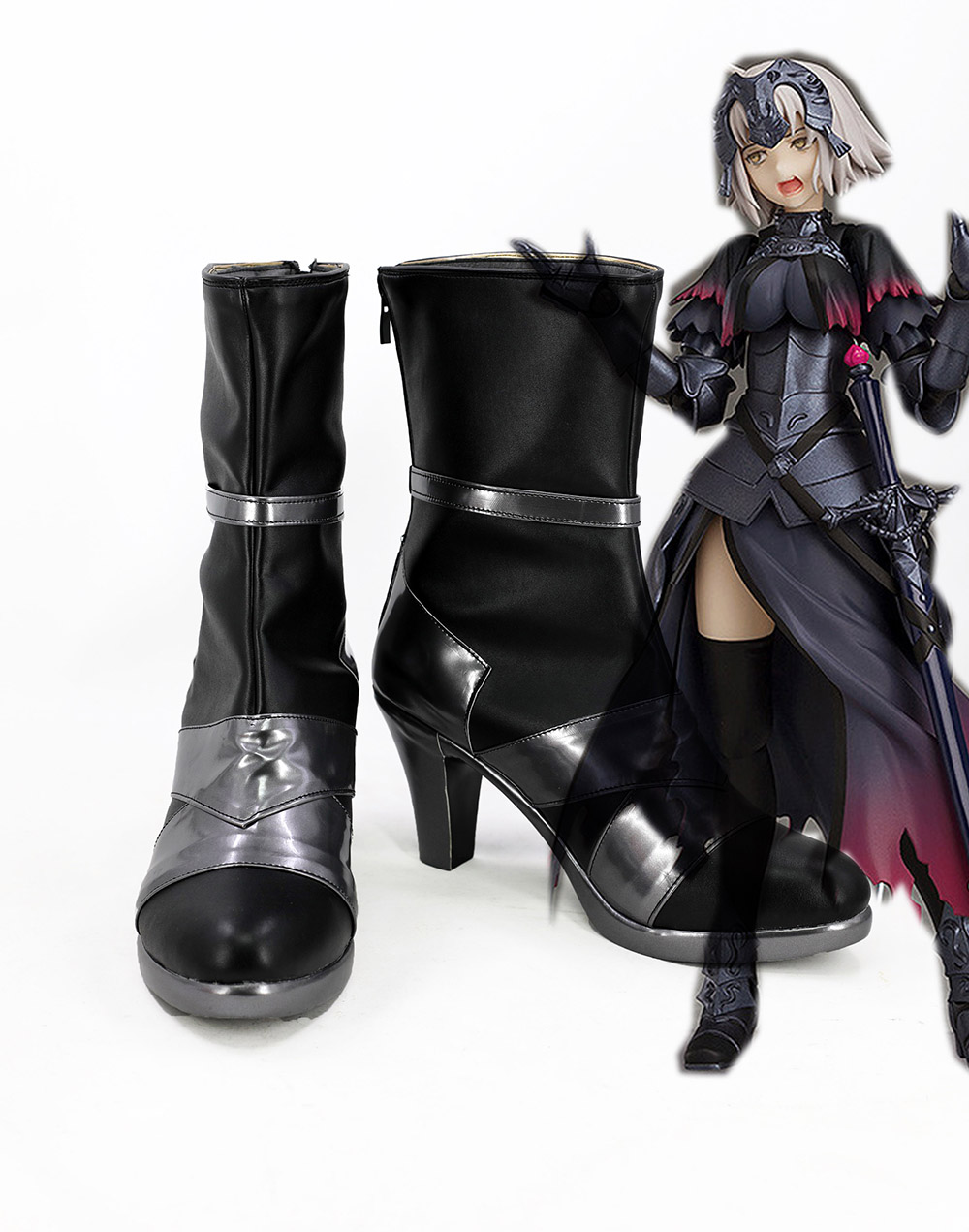 Fate Grand Order FGO Alter Jeanne d Arc Cosplay Boots Shoes Custom Made
