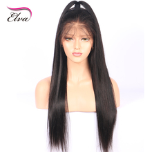 Elva Hair 250% Density 360 Lace Frontal Wigs Pre Plucked Natural Hairline Brazilian Remy Hair Straight Lace Wigs For Black Women