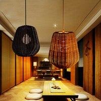 Rattan lâmpada quarto lustre lustre Lustre de jantar personalidade estudo do Chinês clássico New Retro