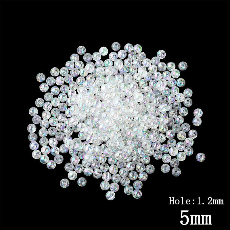 Wholesale 5mm 500pcs lot Transparent Color Acrylic Spacer Beads Loose Cute  Ball Shape Beads For 68a1d1001051
