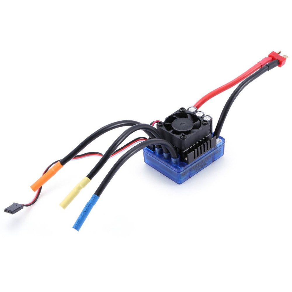 YKS 1pcs 2050KV 4 poles Sensorless Brushless Motor 120A ESC with LED Programming Card Combo Set for 1/8 RC Car Crawler Truck racerstar 120a esc brushless waterproof sensorless 1 8 rc remote radio car parts