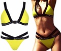 KENDALL NDALL KYLIE Sexy Cut Out Bandage High Waist Bikini Set Push Up Swimwear Best Soft Swimsuits Bathing Suit