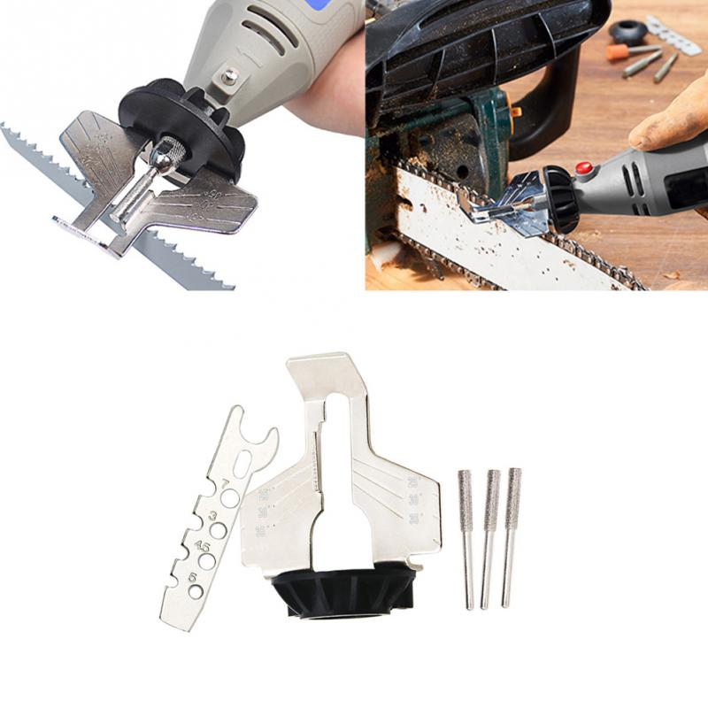 Image 5 - Sharpening Attachment, Chain Saw Tooth Grinding Tools Used with Electric Grinder, Accessories for Sharpening Outdoor Garden Tool-in Abrasive Tools from Tools