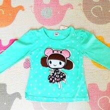 Spring Autumn Girls T shirt Long Sleeved Cotton Material Cartoon Pattern Baby Kids Tee Shirt Tops Little Children CLothes 121