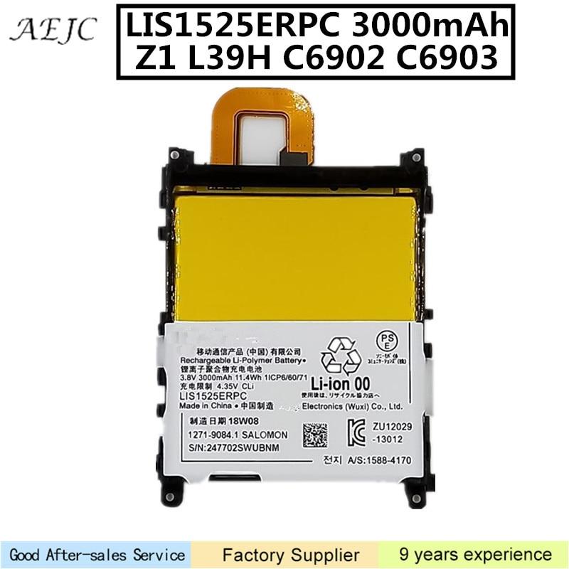 For Sony Xperia Z1 L39H L39T L39U C6902 C6903 C6916 C6943 D5503 Battery Rechargeable 3000mAh LIS1525ERPC Lithium-ion BatteryFor Sony Xperia Z1 L39H L39T L39U C6902 C6903 C6916 C6943 D5503 Battery Rechargeable 3000mAh LIS1525ERPC Lithium-ion Battery