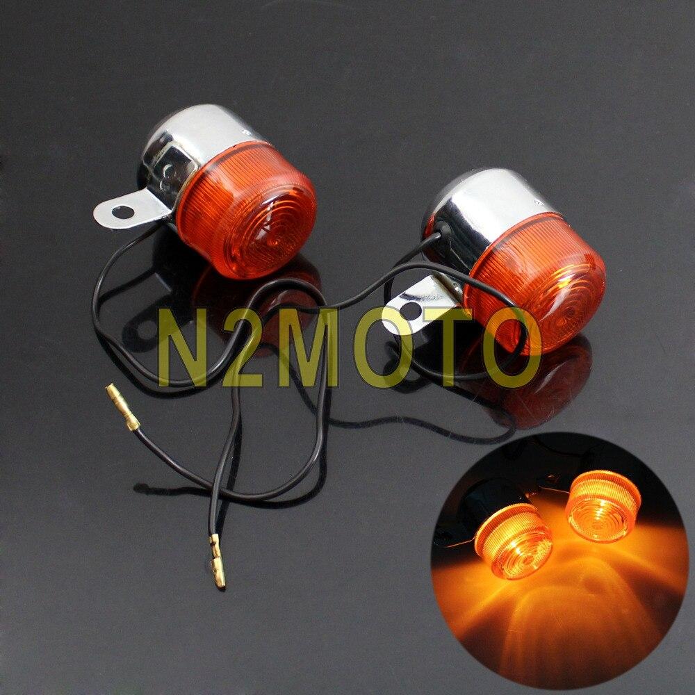 Motorcycle Chrome Turn Signal Light For Honda Chopper Cafe Racer  Indicator Flasher Lamp Blinker