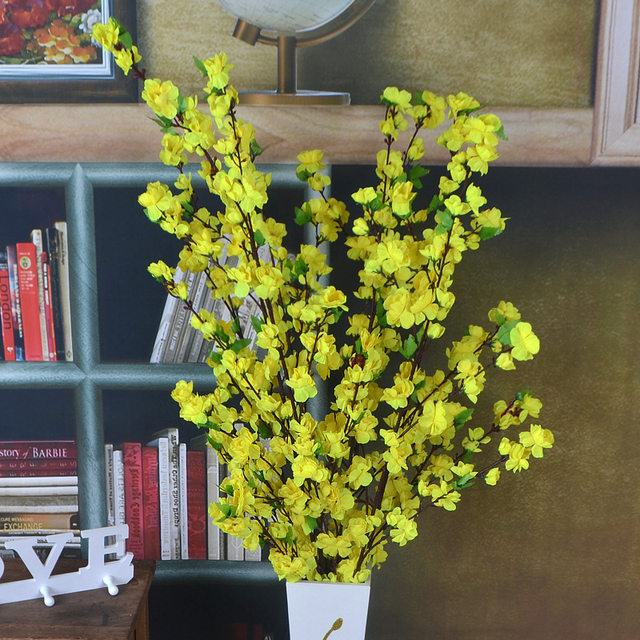 Online shop 1 pcs artificial flowers cherry spring plum peach 1 pcs artificial flowers cherry spring plum peach blossom branch silk artificial flower tree for wedding party home decoration mightylinksfo