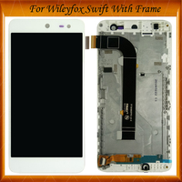 100% Tested OK For Wileyfox swift FPC T50KB12S3M 1 Touch Screen And Display Assembly With Frame 5inch