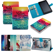 Funda For Amazon Kindle Fire 7 2017 Fire 7 2015 Luxury Butterfly Print Leather Flip Wallet Case Cover Coque Shell Skin Stand 2017 new kindle fire 7 inch pu leather tablet case cover slim colorful print funda for amazon fire 7 fire7 2015 smart stand skin