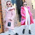 Girls child wadded jacket outerwear medium-long cotton-padded jacket thickening children's clothing winter girls coat